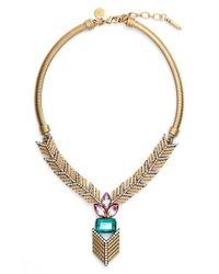 Loren Hope | Metallic 'eden' Jeweled Y-necklace | Lyst