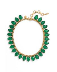 Loren Hope | Green 'sylvia' Crystal Collar Necklace | Lyst