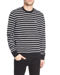 Obey | Black Saginaw Stripe Sweatshirt for Men | Lyst