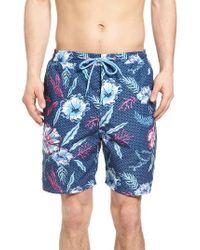Vineyard Vines   Blue Aquatic Hibiscus Cabana Swim Trunks for Men   Lyst