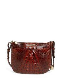 Brahmin | Red Melbourne Tara Leather Crossbody Bag | Lyst