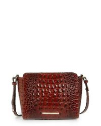 Brahmin | Red Melbourne Carrie Leather Crossbody Bag | Lyst