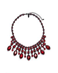Tasha | Red Jewel Frontal Necklace | Lyst