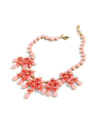 J.Crew | Red Floral Cascade Necklace | Lyst