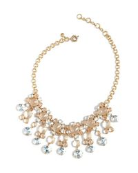 J.Crew | Blue Icy Crystal Drop Necklace | Lyst