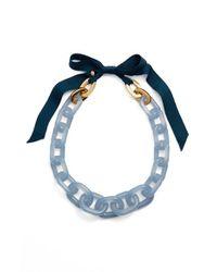 J.Crew - Blue Lucite Link Necklace - Lyst