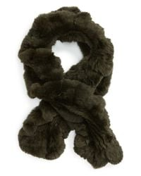 Toria Rose - Green Genuine Rabbit Fur Scarf - Lyst