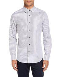 Slate & Stone - White Stripe Cotton Sport Shirt for Men - Lyst