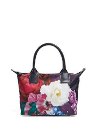 Ted Baker | Blue Blushing Bouquet Small Tote | Lyst