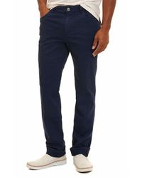 Robert Graham | Blue Milo Cotton Twill Five Pocket Pants for Men | Lyst