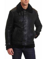 Robert Graham   Black Adrian Leather Jacket for Men   Lyst