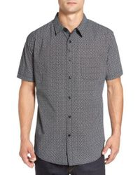 Imperial Motion | Gray 'branch' Slim Fit Print Short Sleeve Woven Shirt for Men | Lyst