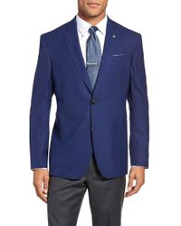 Ted Baker | Blue Trenton Trim Fit Wool Blazer for Men | Lyst