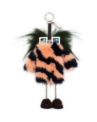 Fendi | Blue Faces Hypnoteyes Genuine Fur Bag Charm With Slippers | Lyst