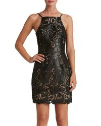 Dress the Population | Black Julie Sequin Lace Sheath Dress | Lyst