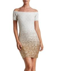 Dress the Population   White Larissa Sequin Minidress   Lyst