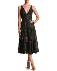 Dress the Population   Black Madelyn Midi Dress   Lyst