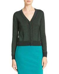 Diane von Furstenberg   Green Adelyn Metallic Knit Cardigan   Lyst