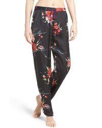 Band Of Gypsies | Black Botanical Pajama Pants | Lyst