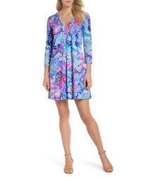 Lilly Pulitzer - Blue Lilly Pulitzer Amina Swing Dress - Lyst