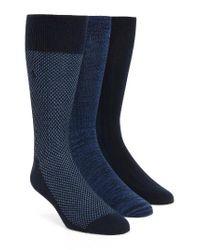 Polo Ralph Lauren | Supersoft Bird's Eye Assorted 3-pack Socks, Blue for Men | Lyst