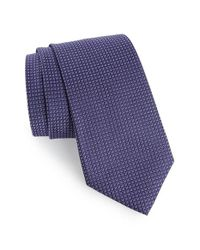 Calibrate | Purple Grid Woven Silk Tie for Men | Lyst
