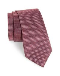 Calibrate | Red Grid Woven Silk Tie for Men | Lyst