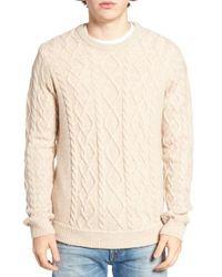 Original Penguin - Natural Fisherman Sweater for Men - Lyst