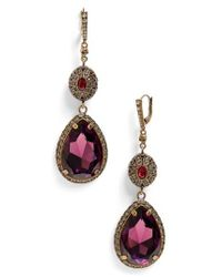 Alexander McQueen - Purple Double Drop Earrings - Lyst