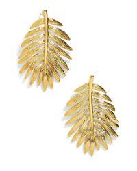 BaubleBar - Metallic Esper Palm Leaf Drop Earrings - Lyst