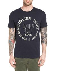True Religion | Black Selfie Logo Graphic T-shirt for Men | Lyst
