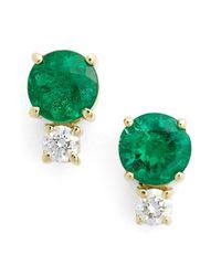 Jemma Wynne | Metallic 18-karat, Gold And Diamond Earrings | Lyst