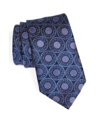 Ermenegildo Zegna - Blue Medallion Silk Tie for Men - Lyst