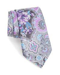 Ermenegildo Zegna - Multicolor Floral Silk Tie for Men - Lyst