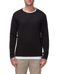 Tavik | Black 'bloke' Raw Edge Crewneck Sweater for Men | Lyst