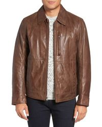 Marc New York | Brown By Andrew Marc Plymouth Lightweight Leather Jacket for Men | Lyst
