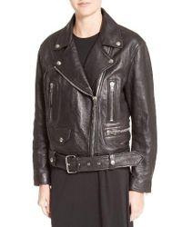 Acne   Black Merlyn Leather Jacket   Lyst