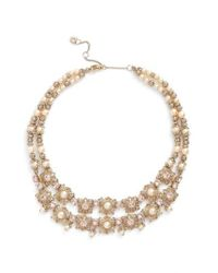 Marchesa | Metallic Two Row Collar Necklace | Lyst