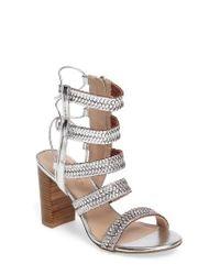 Charles by Charles David | Metallic Ella Block Heel Sandal | Lyst