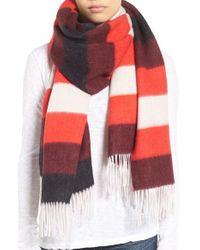 Rag & Bone | Red Blanket Stripe Scarf | Lyst