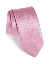 Canali | Pink Solid Silk Tie for Men | Lyst