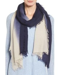 Eileen Fisher - Blue Ombre Scarf - Lyst