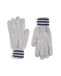Polo Ralph Lauren | Gray Rugby Stripe Wool & Cashmere Gloves for Men | Lyst