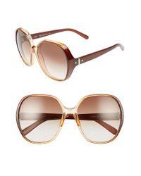 Chloé | Brown Misha 59mm Gradient Round Retro Sunglasses - Gradient Caramel | Lyst