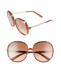 Chloé | Brown Myrte 61mm Sunglasses - Caramel | Lyst