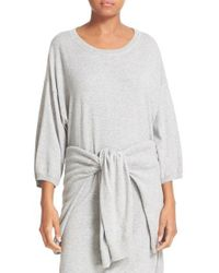 Vince | Gray Sweater Dress | Lyst