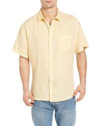 Original Paperbacks - Natural Rome Trim Fit Linen Sport Shirt for Men - Lyst
