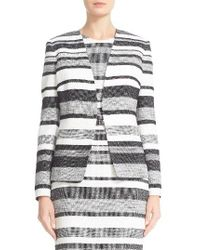 Max Mara - White Tommy Stripe Cotton & Linen Blend Jacket - Lyst