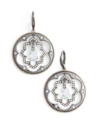 Jenny Packham - Metallic Orbital Hoop Earrings - Lyst
