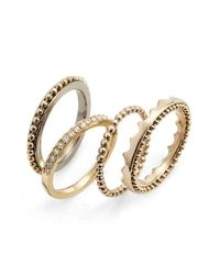 Jenny Packham | Metallic Stack Ring Set | Lyst